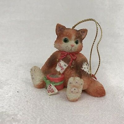 Calico Kittens To My Cat With Pot of Catnip 144398 Hanging Christmas Ornament
