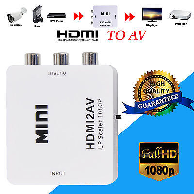 HDMI to AV 3 RCA CVBS Full HD Video 1080P Composite Converter Adapter