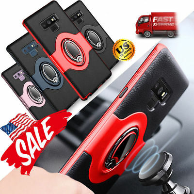 For Samsung Galaxy S9/S8/Plus/Note 9 Ring Holder Shockproof Armor Case Cover lot