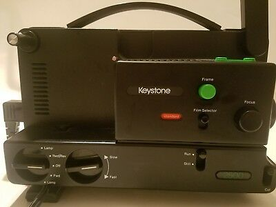 Keystone 2500 Dual 8mm Variable Speed Film Projector  FREE SHIPPING**