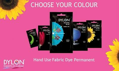Dylon Permanent Fabric Dye Hand Use 50grams Choose Your Colour