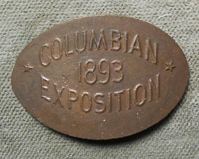 Columbian Exposition 1893 Elongated On Indian 1c Martin & Dow WCE-2 Rarity-3