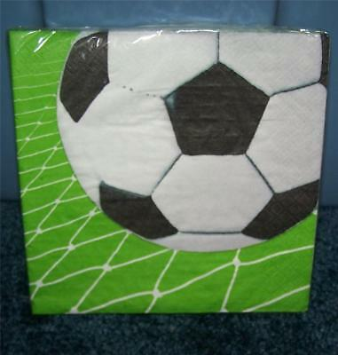 Sports SOCCER BALL Napkins Pkg of 20 Paper Luncheon Size ~More Supplies Listed ~