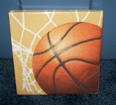 Sports BASKETBALL Napkins Pkg of 20 Paper Luncheon Size ~ More Supplies Listed ~