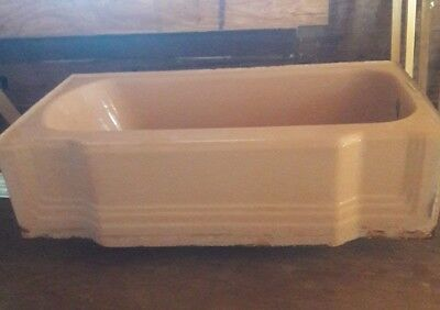 Vintage 1950's Pink Bathtub and Sink Standard