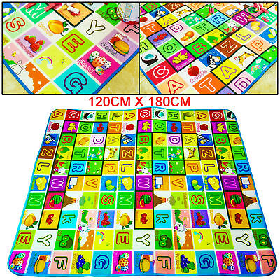 120x180 Kids Crawling Educational 2 Side Play Mat Game Soft Foam Picnic Carpet
