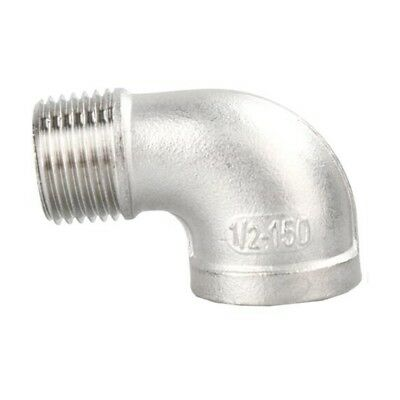 """SS304 Female Male Thread 90 Degree  Elbow Pipe Fitting 1/8"""" to 1-1/2"""" BSPT"""