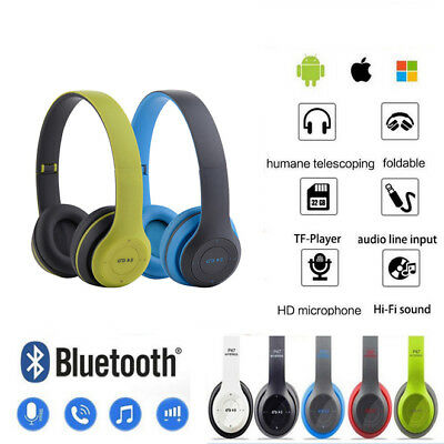 P47 Wireless Bluetooth Foldable Headset Stereo Headphone For iPhone Samsung lot&