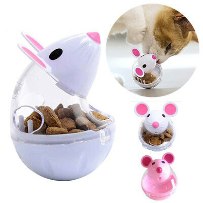 Pet Cat Kitten Mouse Shape Treat Holder Food Storage Dispenser Chew Play Toy HWD