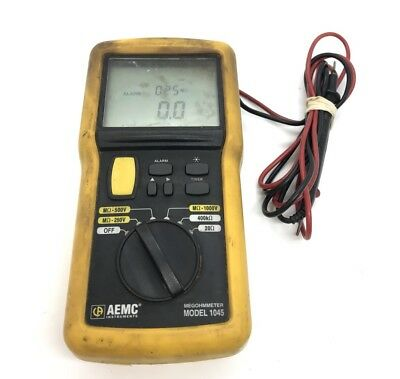 AEMC 1045 - Megohmmeter Resistance Tester! With Leads FREE SHIP!