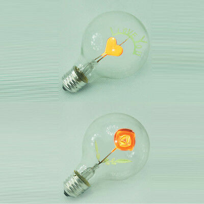 Heart Filament Night Potted Decor Gift! Rose E27 Retro Light Bulb Edison Lamp