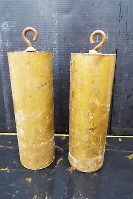 Lovely Pair Early Antique Brass Longcase/grandfather Clock Weights 18Th 19Th C