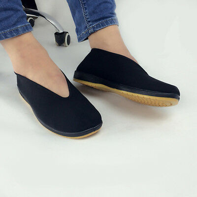 Kung Wing Chi Size Slip-on Footwear Shoes Soft Fu Arts Sole Martial Rubber Tai