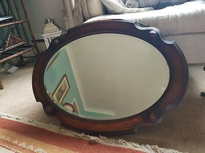 Beautiful antique Arts And Crafts Bevelled Mirror