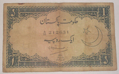 Pakistan One Rupee signed Victor Turner rare note