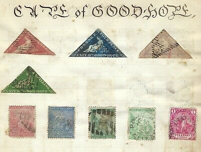 Cape Of Good Hope 1864 Stamps From An Old Album Backed By Ceylon See Scans.