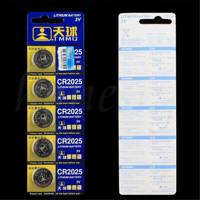 10PCS 3V Button CR2025 Cell Coin Battery For Calculators Boards Cameras Watch