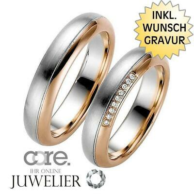 Gravur A19101123 Jewelry & Accessories Trauringe Eheringe Aus 333 Gold Rotgold Palladium Bicolor Ink