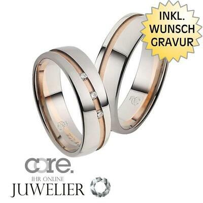 Jewelry & Accessories Gravur A19101123 Trauringe Eheringe Aus 333 Gold Rotgold Palladium Bicolor Ink
