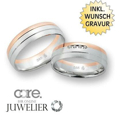 Gravur A19101123 Trauringe Eheringe Aus 333 Gold Rotgold Palladium Bicolor Ink Jewelry & Accessories