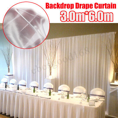 White Stage Photography Background Drape Curtains Wedding Party Backdrop 6x3m
