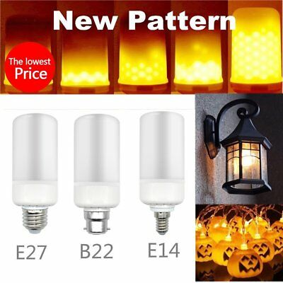 Lots LED Flicker Flame Fire Effect Light Bulb E27 E14  B22 Christmas Decor Lamp