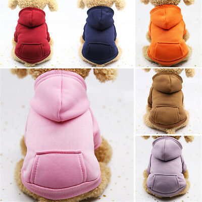Comfy Puppy Pet Dog Cat Clothes Hoodie Winter Warm Sweater Coat Costume Apparel