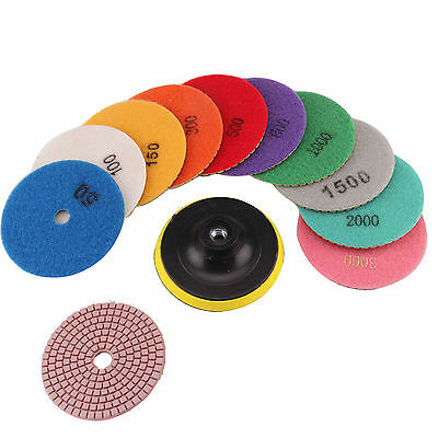 "11X Diamond Polishing Pads 4"" Grinding Disc For Granite Marble  Durable Stone"