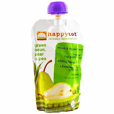 happytot, Organic Superfoods, Green Bean, Pear and Pea, 4.22 oz (120 g)
