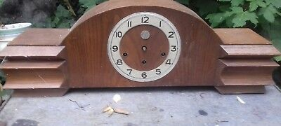 large  french art deco clock for spares or repairs. see photos