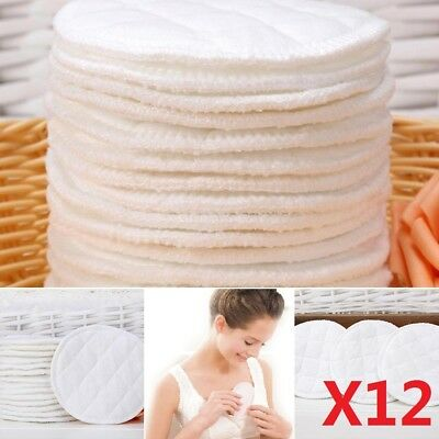 12X Baby Pads Breastfeeding Pads Washable Breast Pads Soft Absorbent Nursing UK