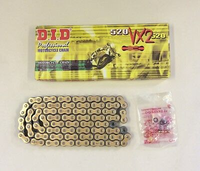 DID Gold X-Ring Chain Ducati 696 Monster 08-13 & 821 Monster 14-18 VX 520-108