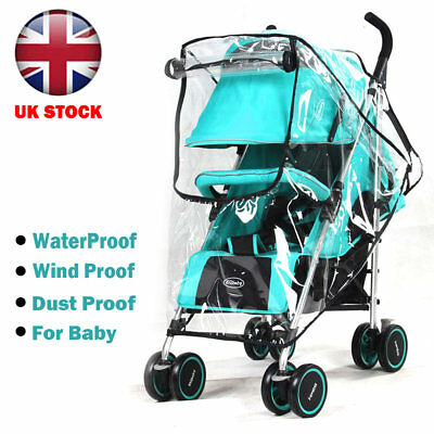 Universal Pushchair Buggy Rain Cover Baby Transparent Stroller PramB Shield UK