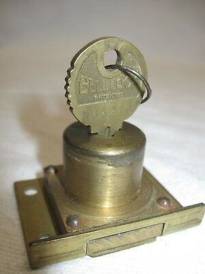 MILLS Novelty Co antique slot machine lock + key w/MATCHING NUMBERS Bell #N65219