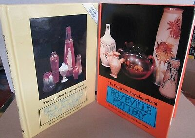 Roseville Pottery Collectors Encyclopedia First Second Series LOT of 2 hardback