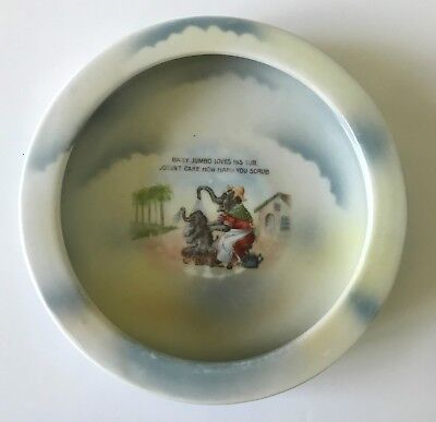 "Antique NICE ROYAL BAYREUTH - BAVARIA Children's  Plate, ""Baby Jumbo.."""