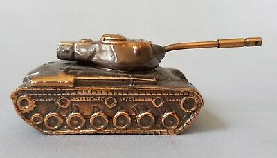 Vintage Sherman Tank M4 Model ALCO Cast Copper Over Steel Replica Paperweight