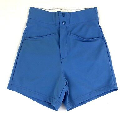 Vintage 1980s BIKE Coaching Shorts Light Blue Deadstock Size Small Highwaisted