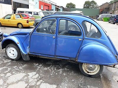 citroen 2cv barn find spares or repair for restoration 1989 g reg with spares