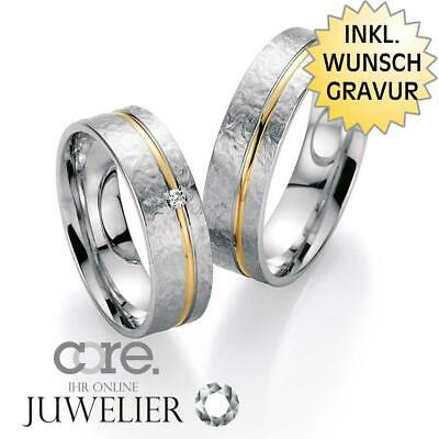 Trauringe Eheringe aus 925 Silber 585 Gold Rotgold Bicolor/Diamant A20002860
