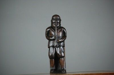 Antique carved wood figure - Full Of Puff