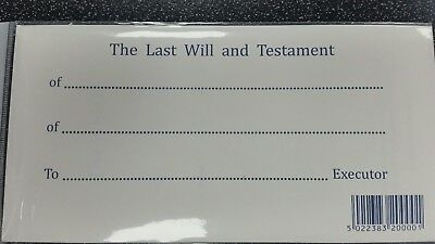 Last Will and Testament Form & Secure Envelope Kit