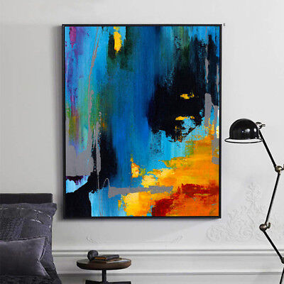 YA941 Modern Wall Decor Hand-painted Abstract oil painting Color art Canvas