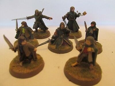 Warhammer Lord of the Rings Hobbits, Boromir and Aragorn