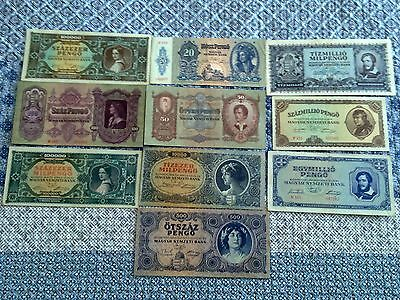 Hungary - Mix Of 10 Banknotes - Very Fine Plus (3+)