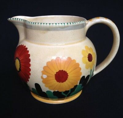 Art Deco Hand Painted Susie Cooper Jug - Early Triangle Backstamp