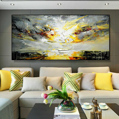 YA947 Large Modern Simple abstract Scenery oil painting 100% Hand-painted