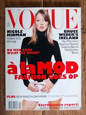 Vogue Magazine October 1995 UK Issue Kate Moss Cover