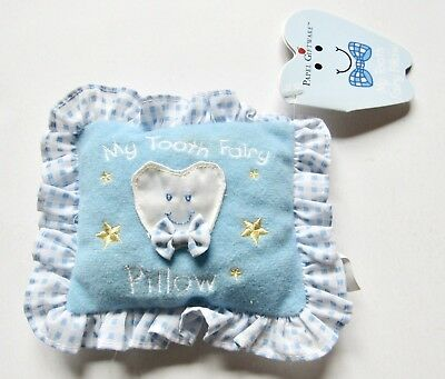 NWT Papel Giftware Blue Tooth Fairy Pillow Pocket For Teeth & Money Gift