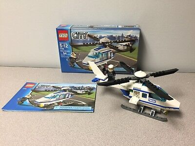7741 Lego City Police Helicopter Complete Instructions Minifig White